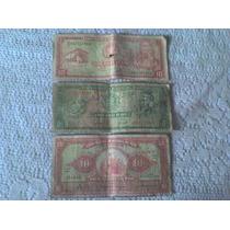 Coleccion De Tres Billetes Antiguos Peruanos