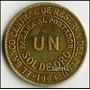 Peru Moneda Antiguo Bronce Un Sol De Oro 1964