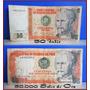 Dante42 Lote 02 Billetes Antiguo 50 Intis 5000 Soles De Oro
