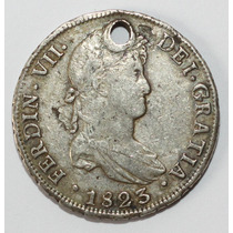 Antigua Moneda Colonial 1823 8r Potosi
