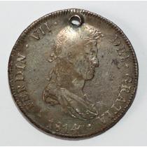 Antigua Moneda Colonial 1814 8r Potosi