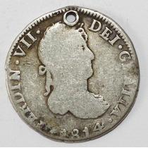 Antigua Moneda Colonial 1814 2r Potosi