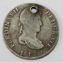 Antigua Moneda Colonial 1819 4r Potosi