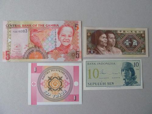 billetes mundiales lote 4 billetes - vp
