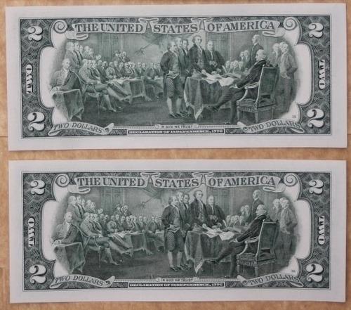 billetes mundiales: usa estados unidos 2 bill 2 dolares 2013