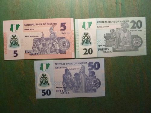 billetes nigeria 5 20 50 naira 2015  - vp