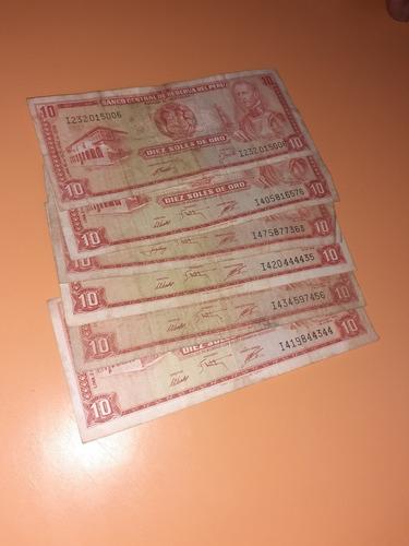 billetes peruanos antiguos de 1960