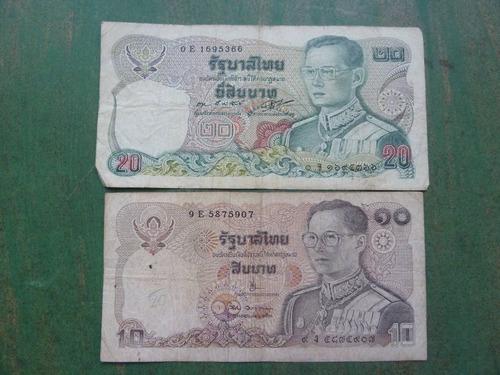billetes tailandia 10 y 20 baht - vp
