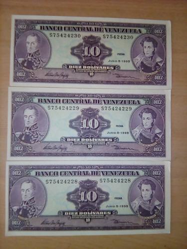 billetes venezolanos de 10 bs y 5 bs, fuera de circulacion.