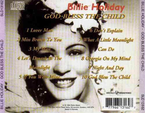 billie holiday - god bless the child - cd importado (canadá)