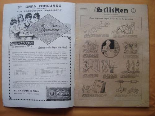 billiken n° 42 año 1920, con publicidad  aguila saint