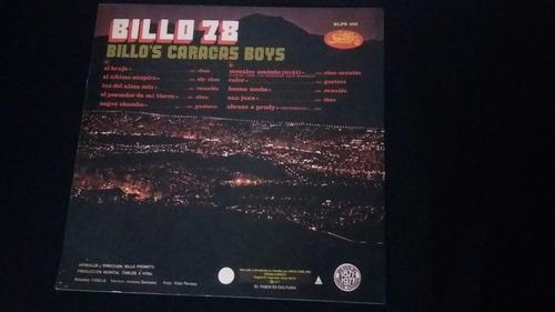 billo 78 billos caracarcas boys lp vinilo tropical salsa