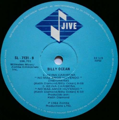 Billy Ocean Caribbean Queen Remix Acetato Maxi-single 80's