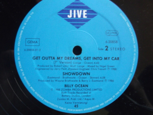 billy ocean - get outta my dreams, get into my car- extented