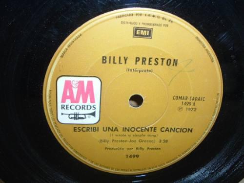 billy preston escribi una inocente cancion simple argentino
