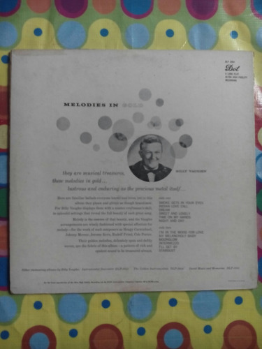billy vaughn lp  melodies in gold  usa
