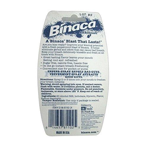 binaca blast breath spray sabor a menta (paquete de 6)