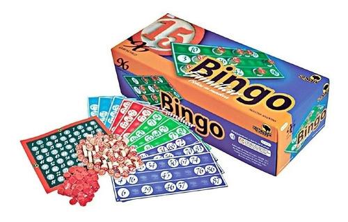 bingo bisonte 96 cartones de lujo familiar fichas de madera
