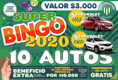 bingo club sanjustino 41° edición