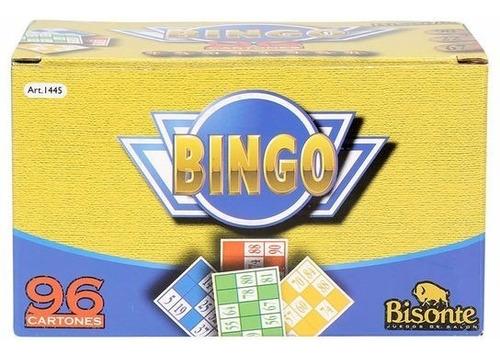 bingo familiar con 96 cartones original bisonte 1445