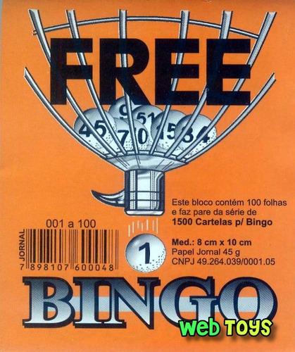 bingo nº 3 (grande) completo 75 bolas + 400 cartelas grátis!