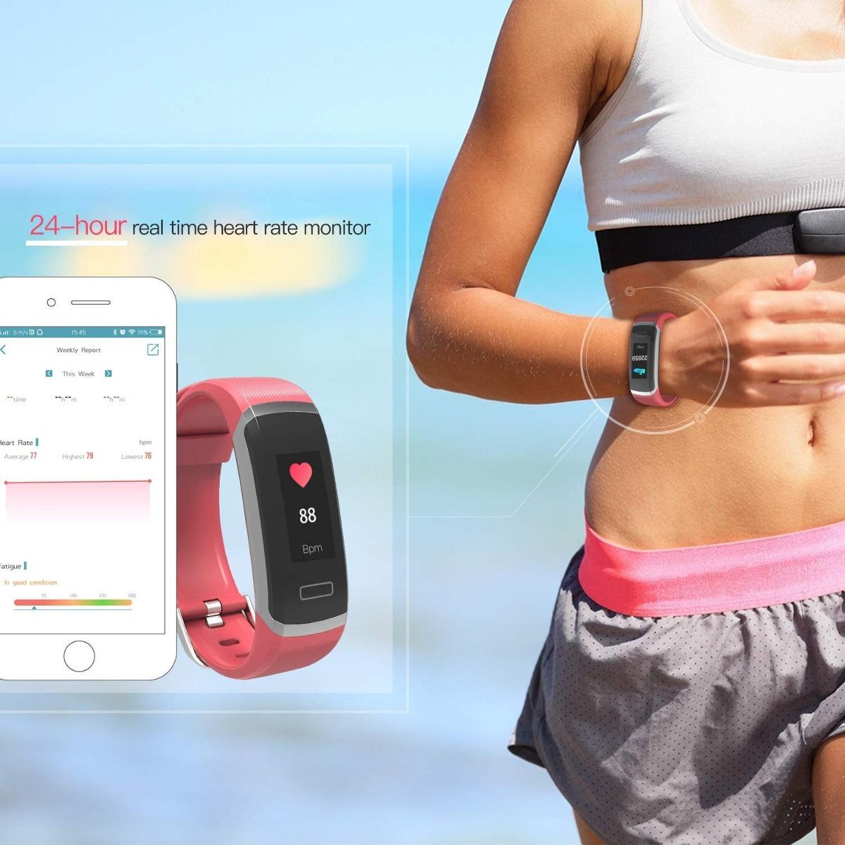 Bingofit Fitness Tracker Reloj De Fitness Hr Sage Color S