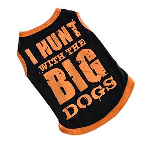 binmer(tm) perro del animal doméstico ropa chaleco camisa