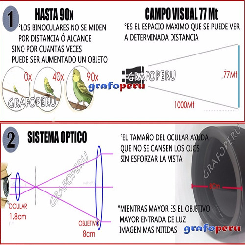 binocular galileo protente 90x80 potente maximo alcance