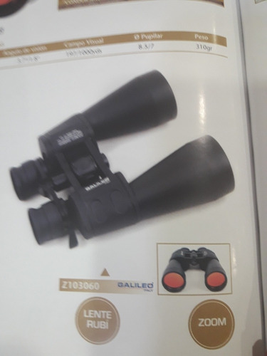 binocular galileo za103060 zoom lentes rubí vision nocturna