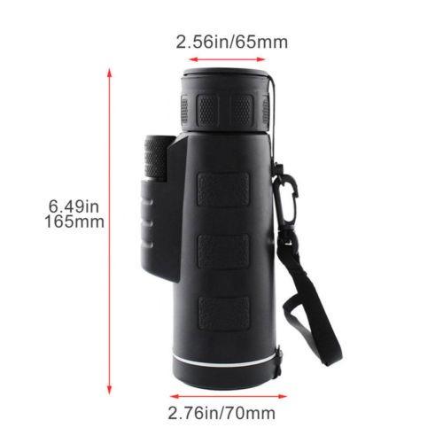 binocular monocular portátil 40 x 60 viajes ópera caza w/tel