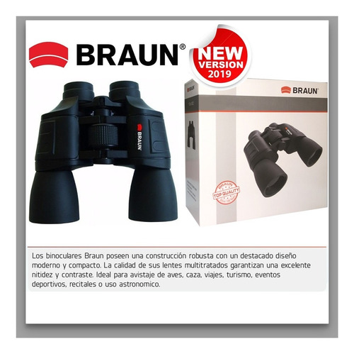 binocular prismatico braun 10x50 lente blue nuevo 2019 lelab