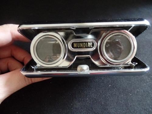 binóculo antigo de bolso - sport glass - 25 x - importado