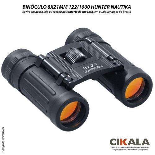 binóculo hunter 8x21 mm campo de visão 122m/1000m - nautika