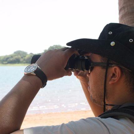 binóculo nautika aguia 7x35mm - pesca - camping - presente