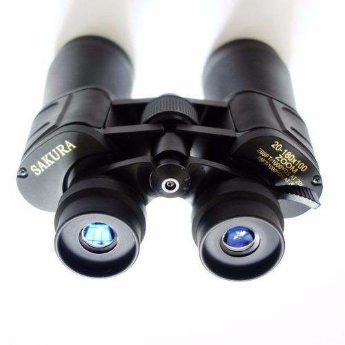 binoculo profissional sakura 20x180x100 + tripé 1,30m + adap