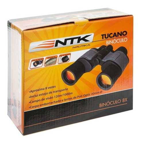 binoculo tucano 8x40 novo com estojo e nota fiscal nautika
