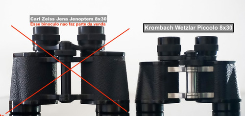 binóculo wetzlar krombach  8x30 - 315 gramas ! (não é zeiss)