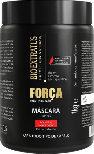 bio extratus mascara força c/ pimenta crescimento do cabelo