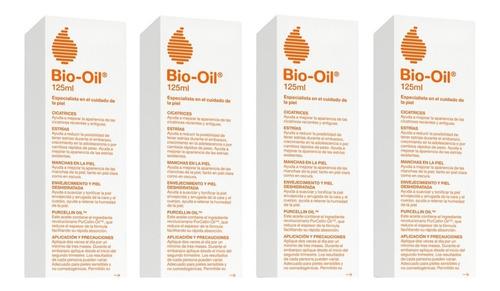 bio oil tratamiento para cicatrices - 125 ml. pack x4