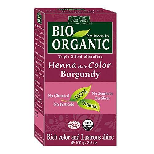 bio organica natural de indus valle henna color de pelo de b