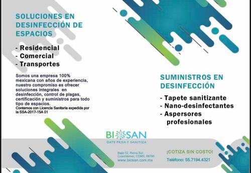 bio-sanitización y nano-desinfección de espacios