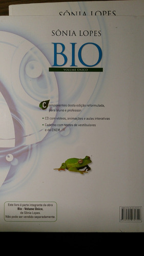 bio - vol. único + testes de vestibulares - sônia lopes