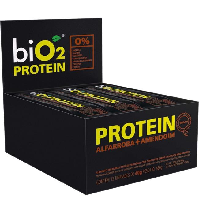 7d184294c Bio2 Protein 24 Barras Alfarroba Amendoim Suplemento - R  179