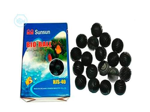 biobolas x 40 unidades para filtración biológica de acuarios