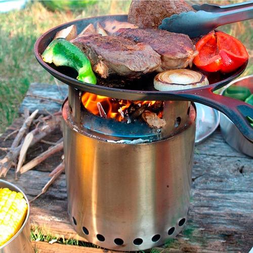 biocalentador de encastre para camping pellet broksol localº
