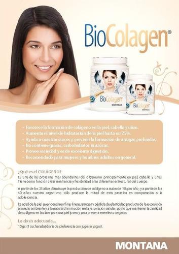 biocolagen - colágeno en polvo para piel, cabello y uñas