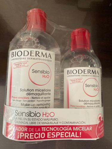 bioderma sensibio h2o de 500 ml + sensibio h2o 250 ml gratis