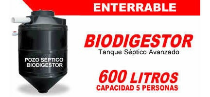 biodigestores autolimpiantes de 600 - 1300 - 3000 - 7000 lts