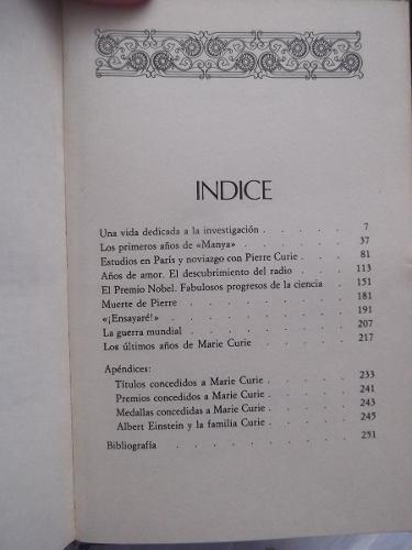 biografia de marie curie maria trigueros tapa dura ilustrado