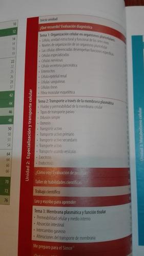 biologia, 1ero medio,puentes del saber, santillana